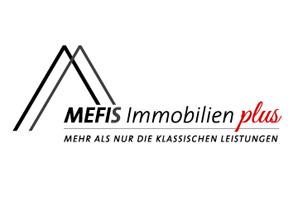 Mefis Immobilien plus Logo mit Claim Pfade